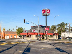Jack in the Box Corner View With Signage